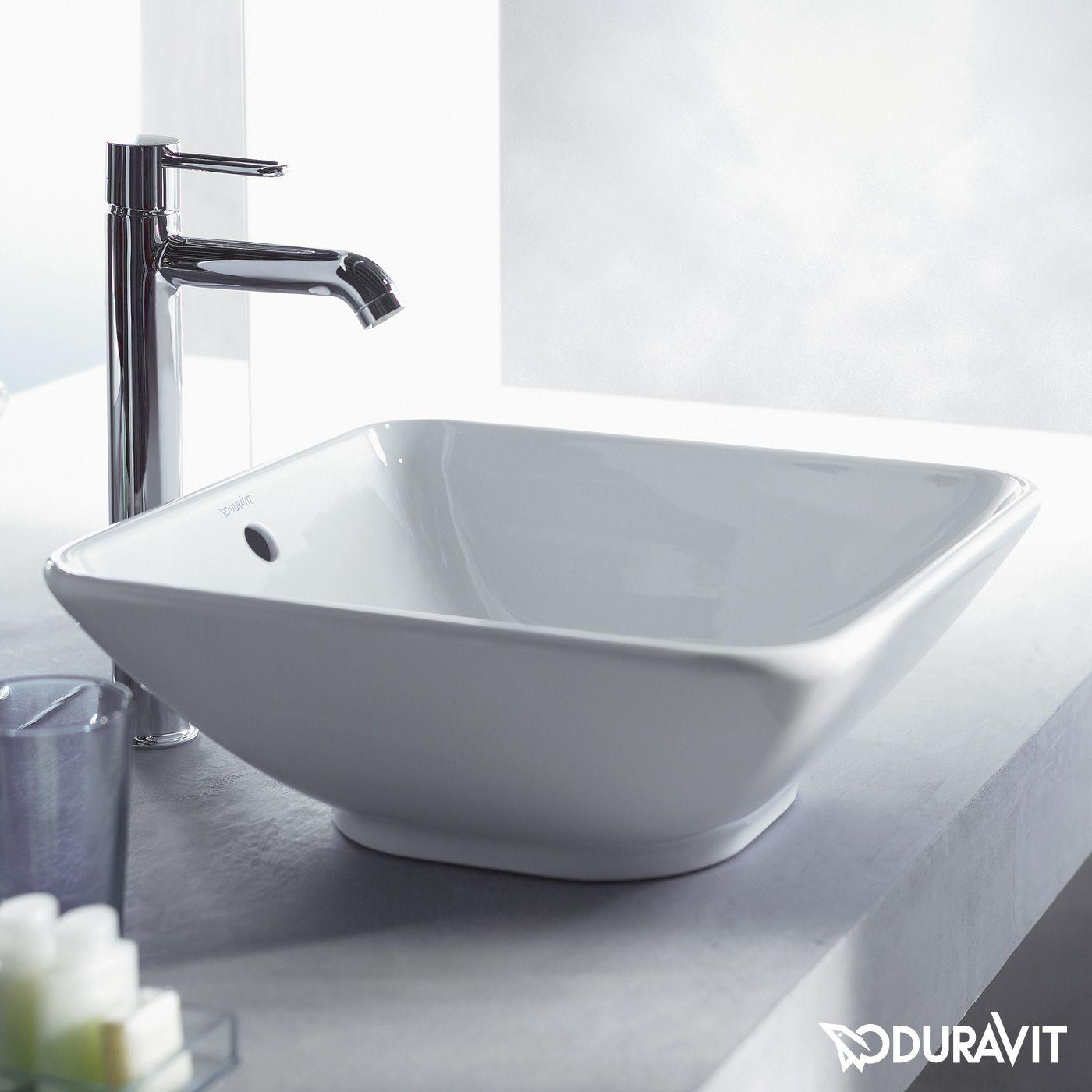duravit bacino aufsatzbecken quadratisch wei mit wondergliss salle de bain pinterest. Black Bedroom Furniture Sets. Home Design Ideas