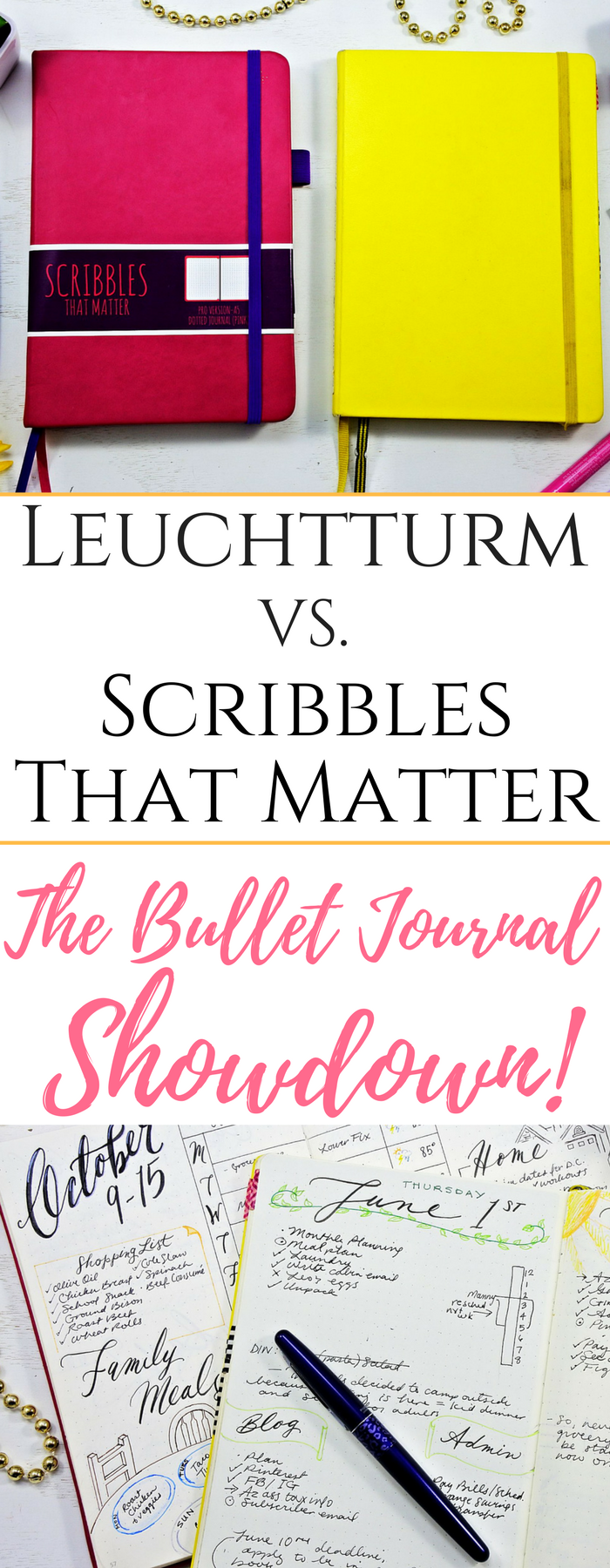 Leuchtturm1917 vs. Scribbles That Matter: the Bullet Journal Test ...
