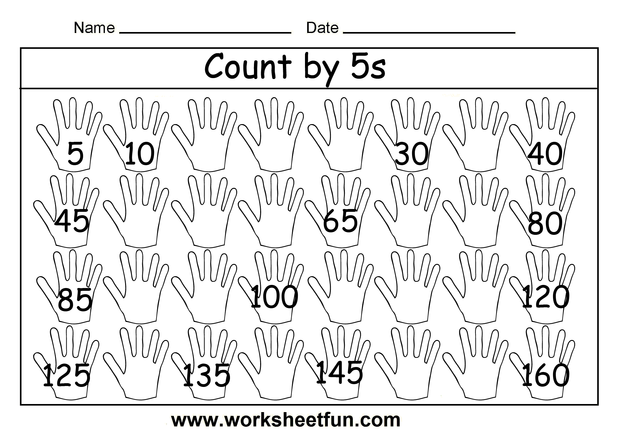 Counting by 5\'s... Have the students write addition and subtraction ...