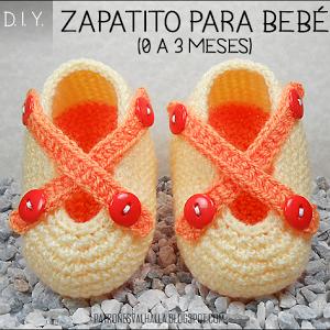 Patrón Gratis: Suela para zapatito de bebé a crochet / 0 a 3 meses (video)   PATRONES VALHALLA // Patrones gratis de ganchillo
