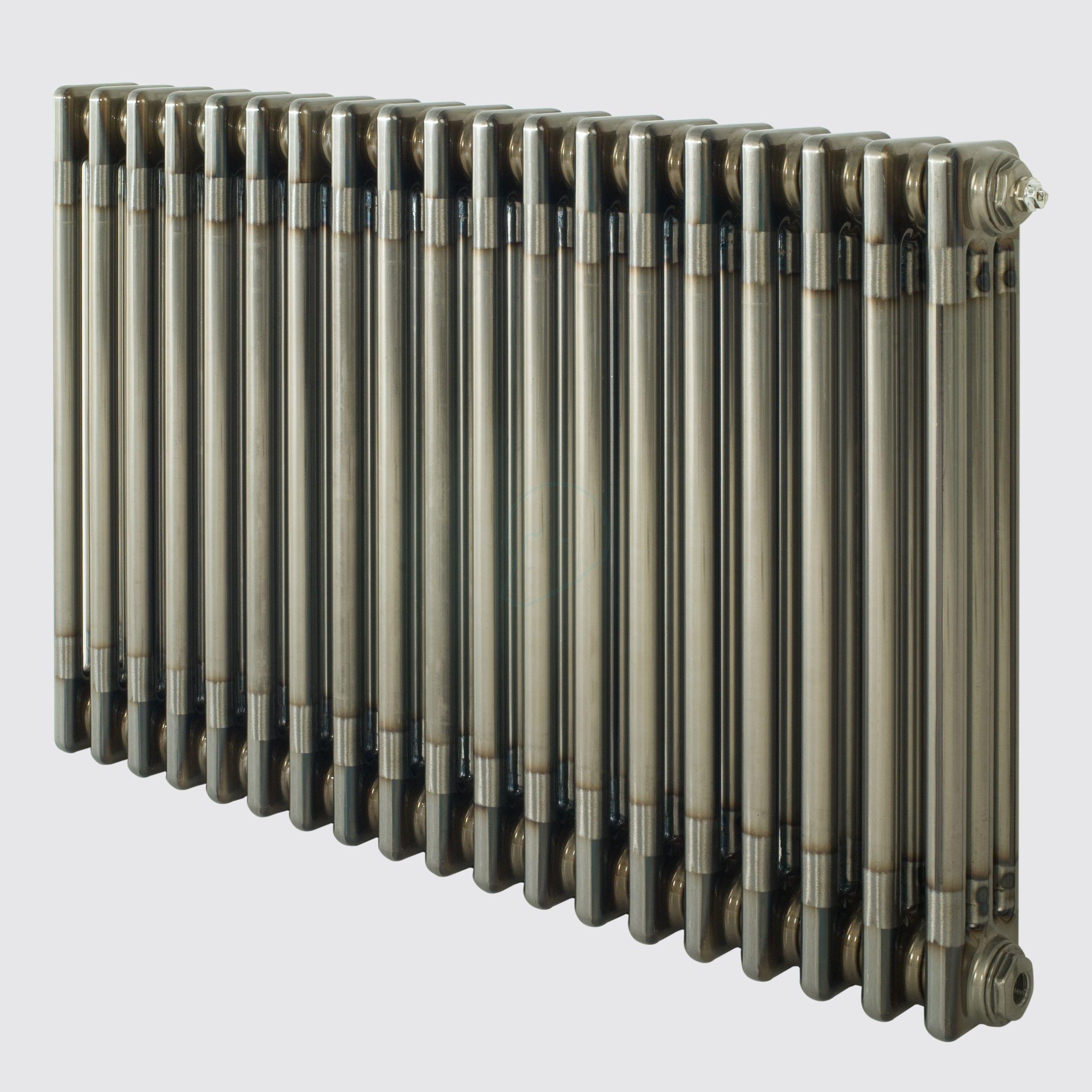 600H x 1180W 3 Column Horizontal Raw Metal Lacquered Radiator