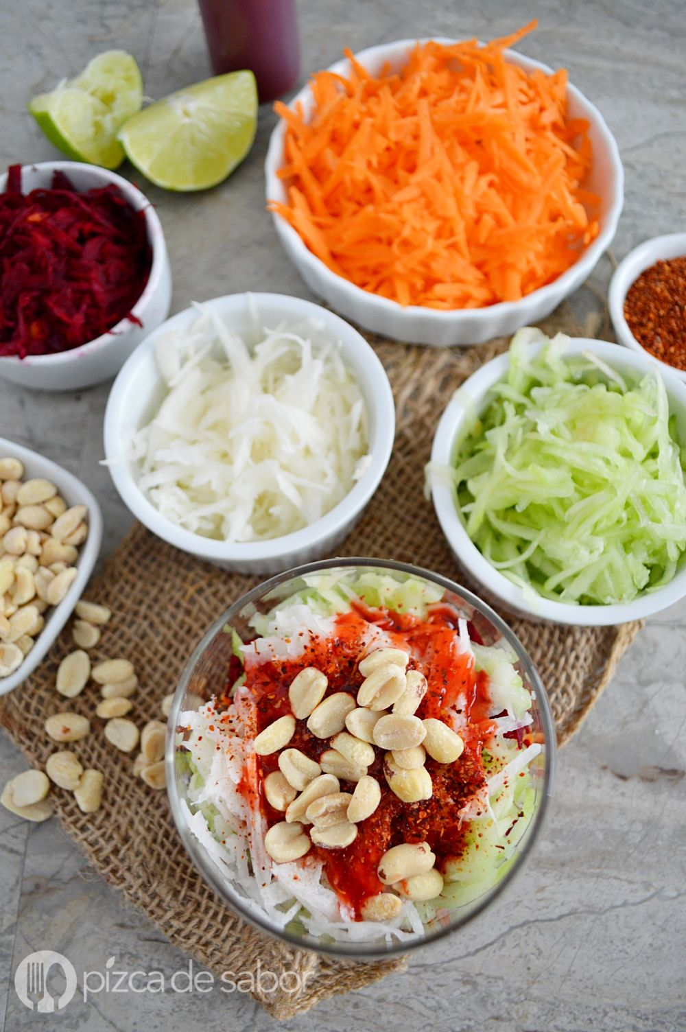 Picosito mix de vegetales con limn  chile delicioso