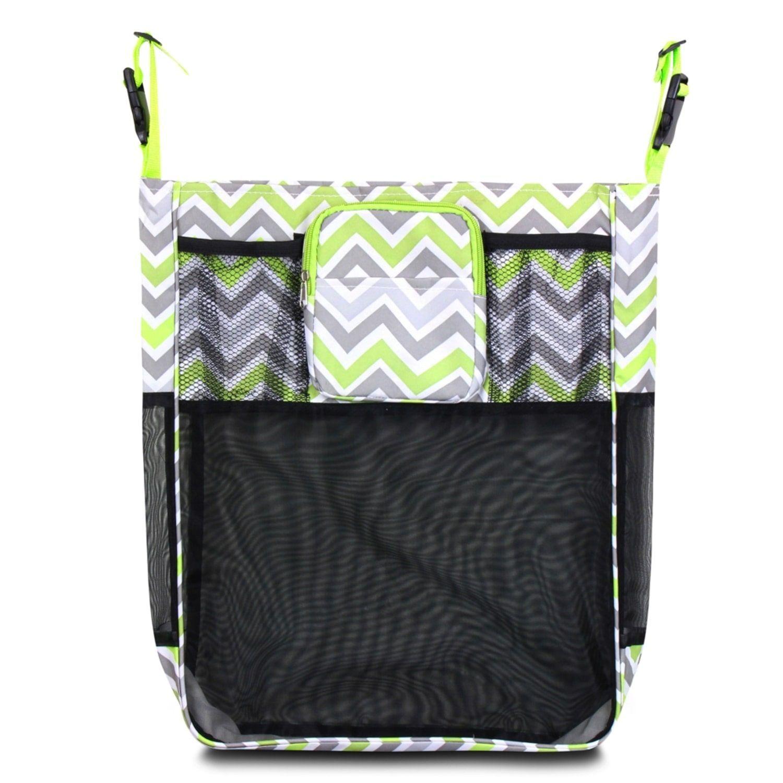 Zodaca Gray/ Green Chevron Baby Cart Strollers Bag Buggy