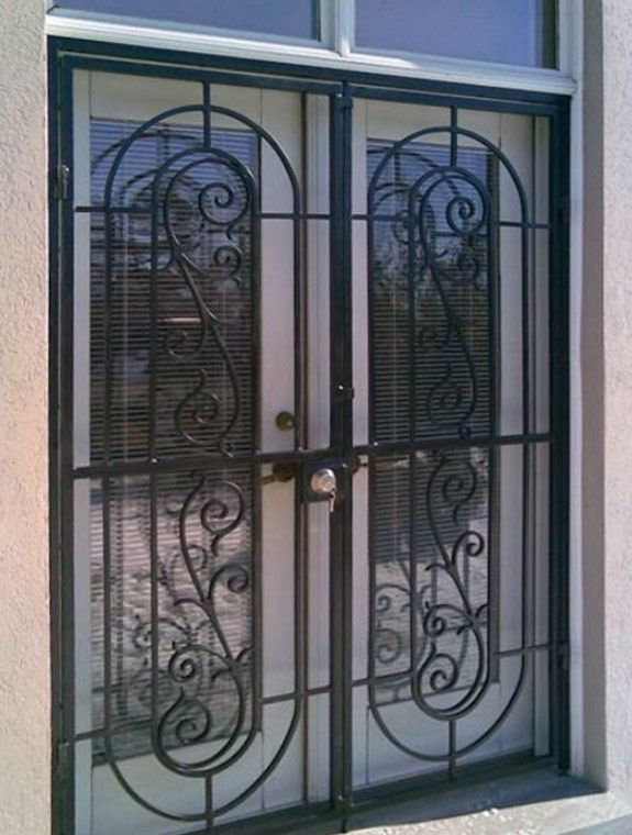 Patio Door Security Gates  Madrid Style Double Patio Gate