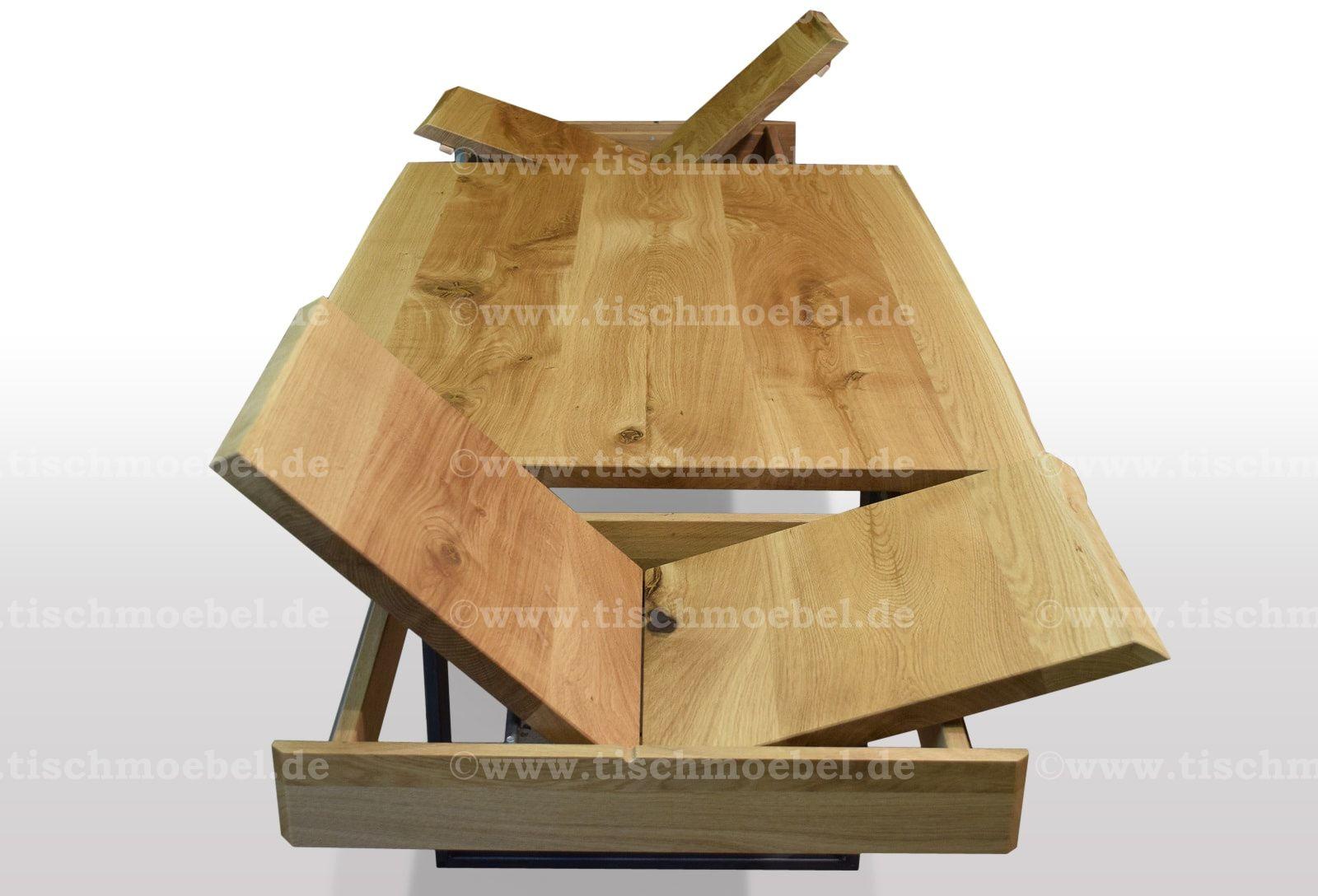 Pin Von Jorge Auf Baumtisch Wildeiche Kopfauszug Auf Schwarzstahlkufen Baumtisch Esstisch Ausziehbar Esstisch Holz