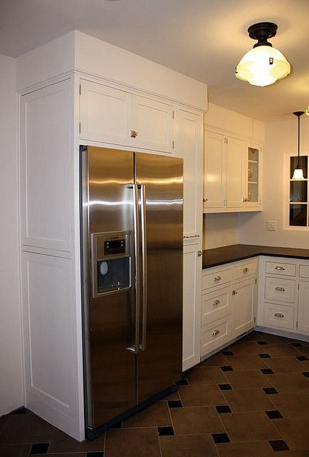kitchen cabinets around refrigerator i would a cabinet around fridge great room 5911