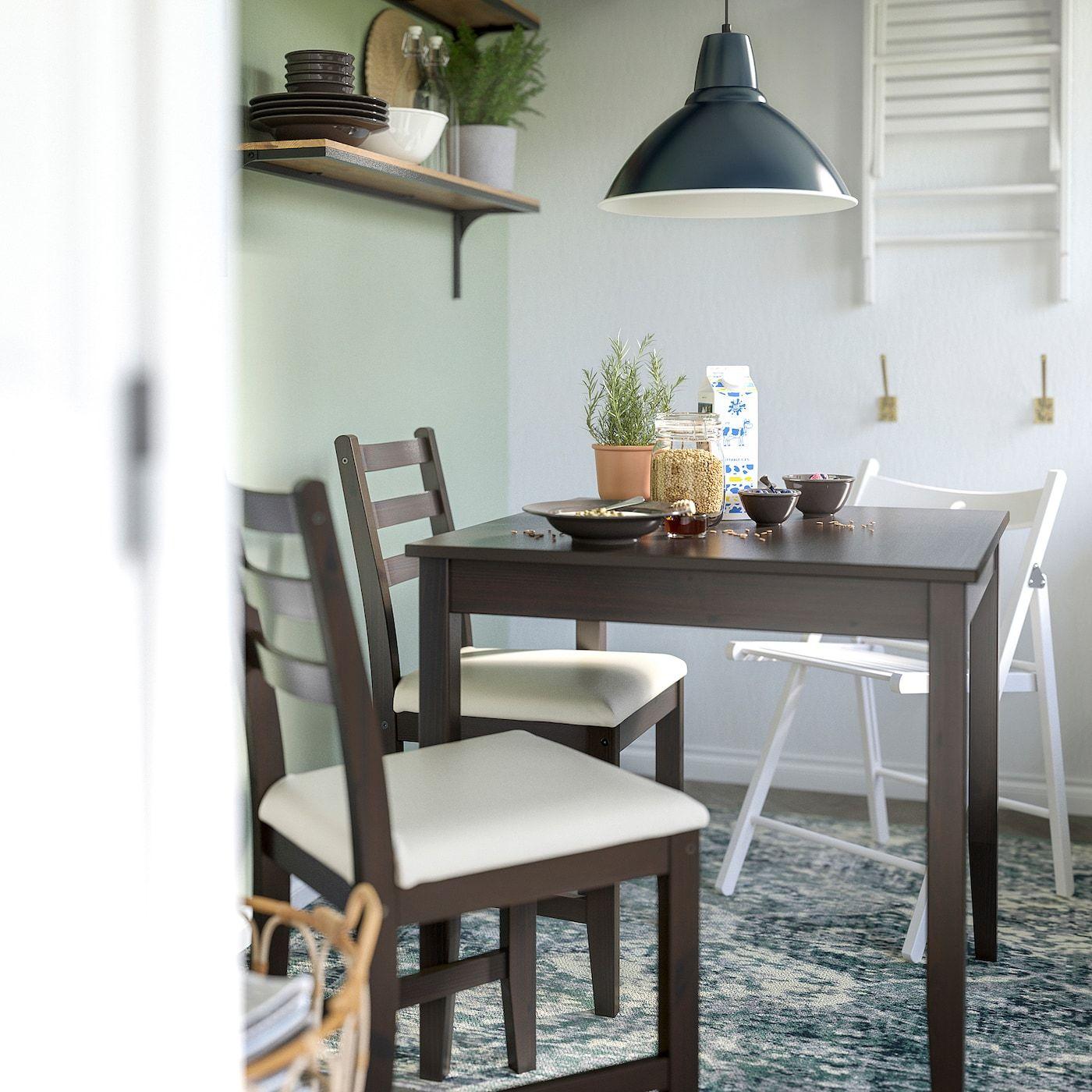 Lerhamn Tisch Und 2 Stuhle Schwarzbraun Vittaryd Beige Ikea