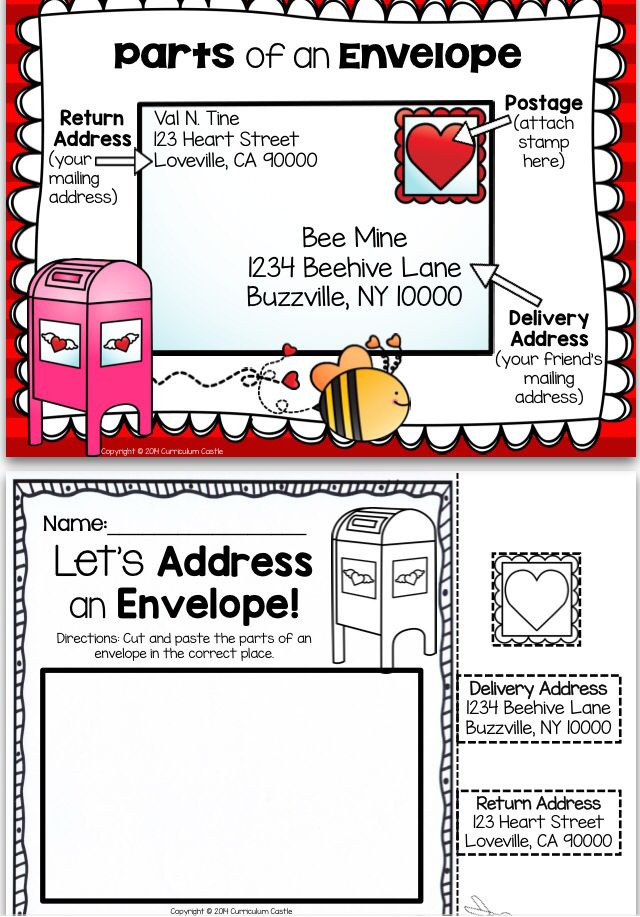 Valentine's Day Activities and Printables Addressing