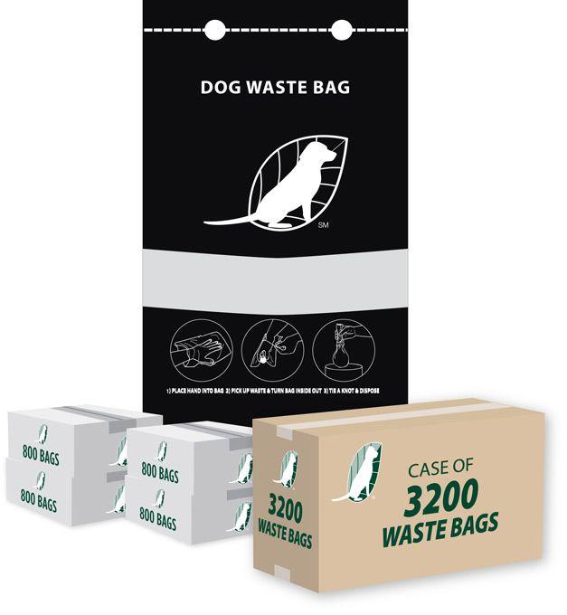 3200 Single Pull Dog Waste Bags For Mitt Header Dispensers Parks Hoa Koa Bulk
