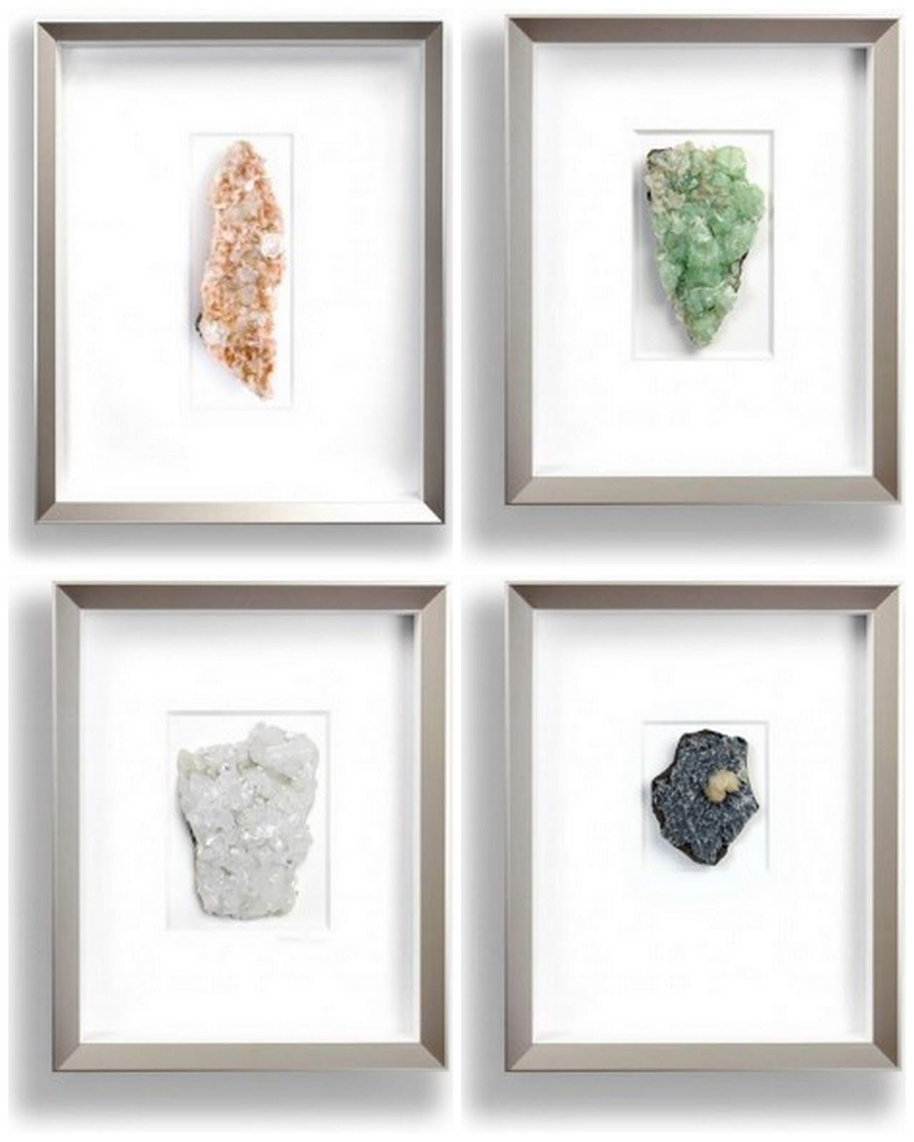 Parlour Framed Minerals Jewelry Display Cards Crystal Decor Tropical Design