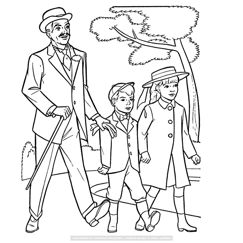 Een wandeling in het park | Coloring pages and fun images ...