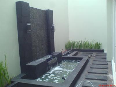 40 contoh desain kolam ikan minimalis depan rumah (dengan