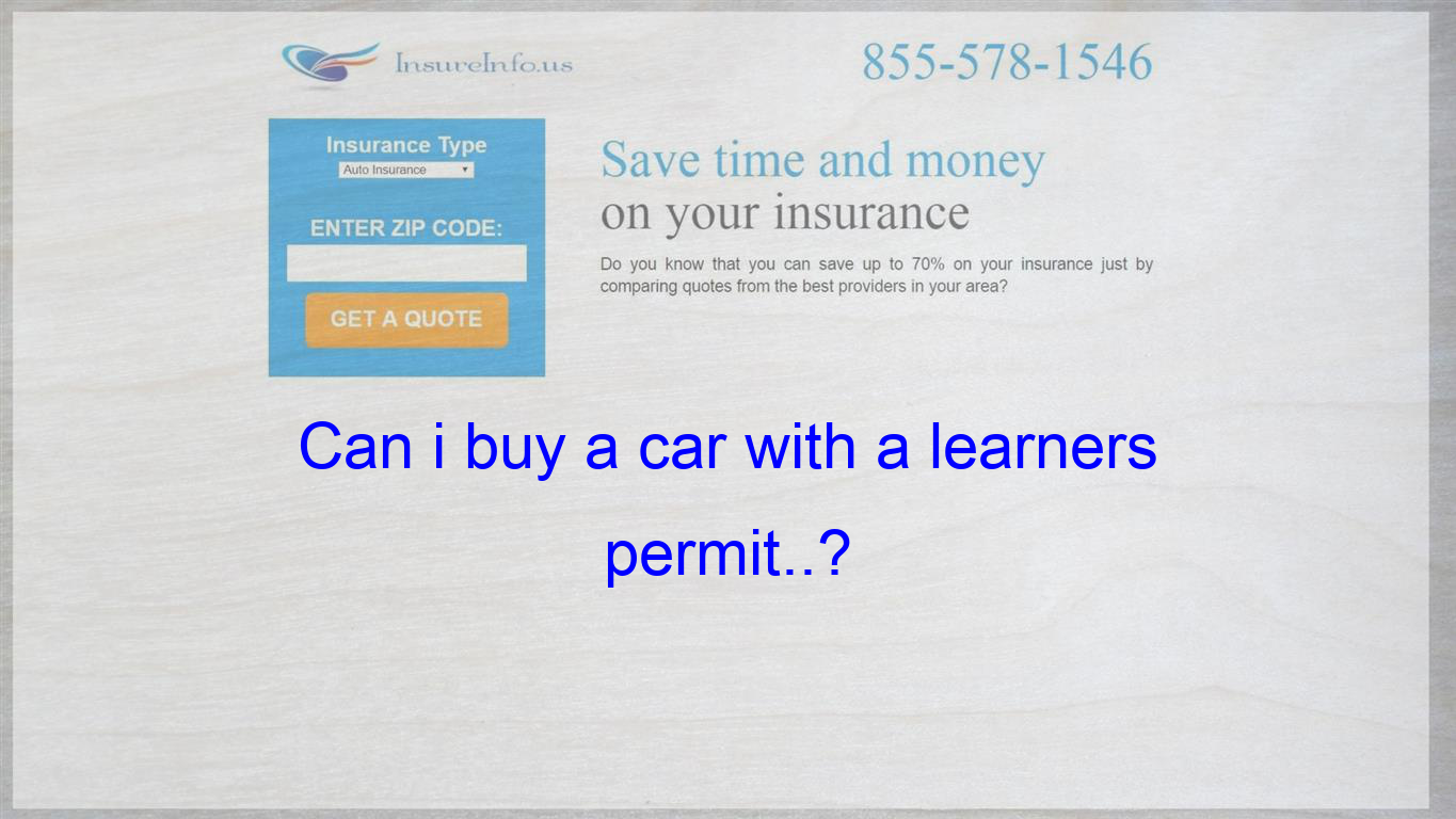 I M Going For My Learners Permit In Two Weeks And I Was Wondering