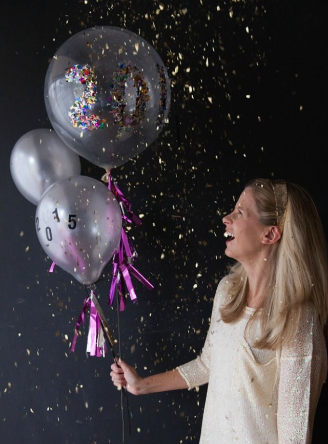 New Years Eve Confetti Balloons!