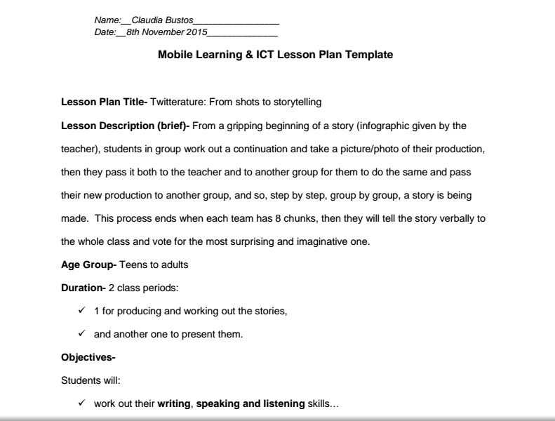 41Mobile Lesson Plan - By writing down my lesson plan I have - what is a lesson plan and why is it important
