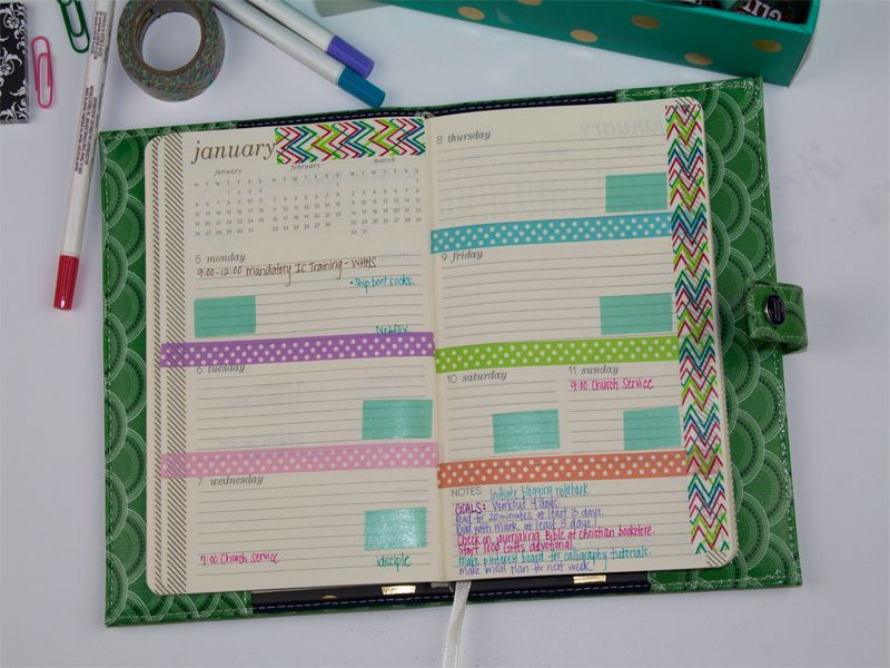 How to Organize Your Planner With Washi