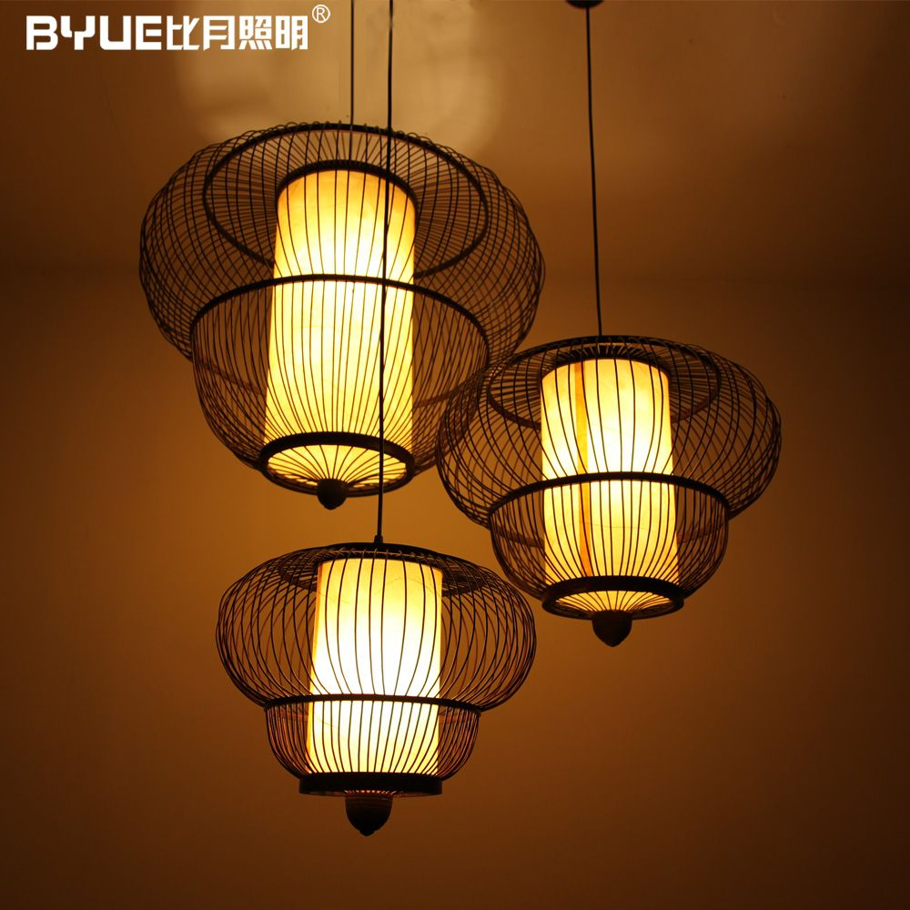 new arrival Chinese style handmade lamp japanese style bamboo