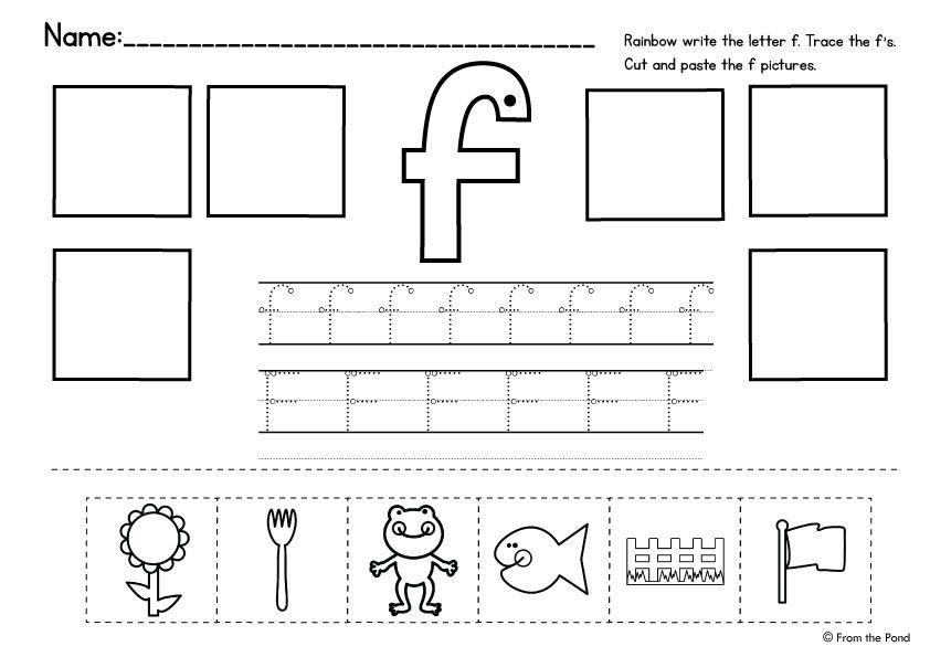 alphabet cut and paste from the pond preschool third grade second grade. Black Bedroom Furniture Sets. Home Design Ideas