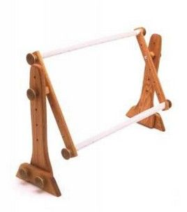 fa edmunds adjustable oak lap frame quilting frames sewing shop joann