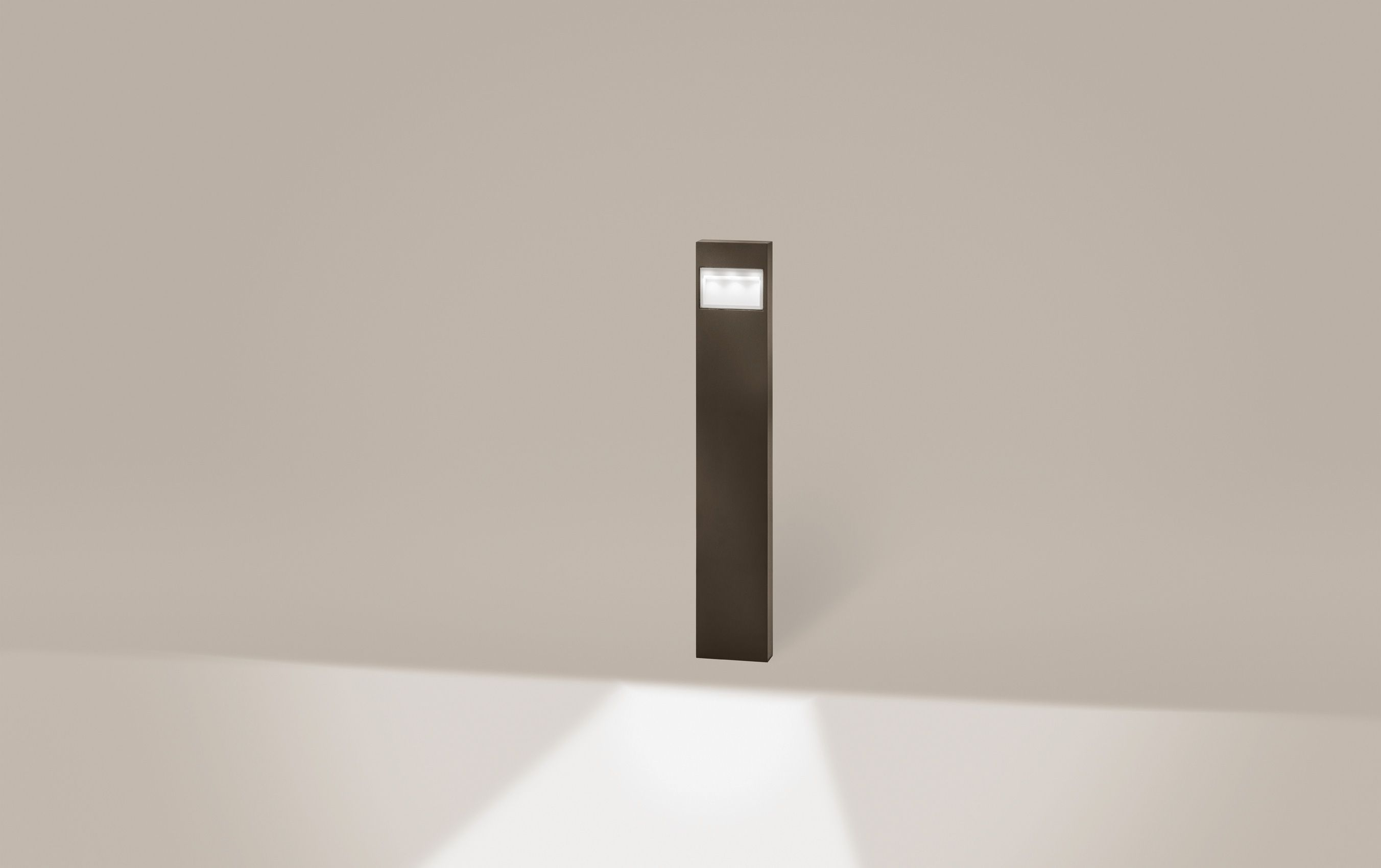 Mox Poller Cool Brown Outside Luminaire Aussenleuchte Bollard Pollerleuchte Aluminium Cool Brown Aluminium Cool Brown Gartenbeleuchtung Beleuchtung