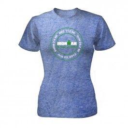 IRONMAN Coeur d'Alene 2013 Women's FINISHER Tee - Blue
