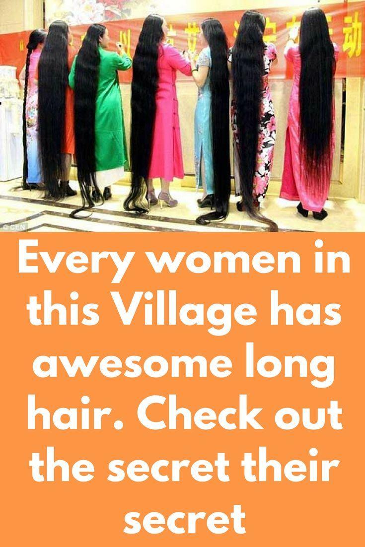 Jede Frau in diesem Dorf hat tolle lange Haare. Überprüfen