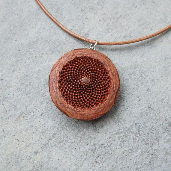 Copper Handcrafted Earrings Fibonacci