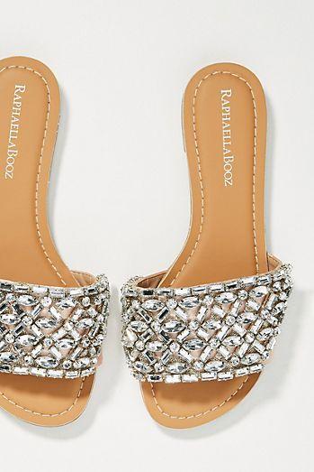 Raphaella Booz Embellished Slide Sandals | Your Anthropologie Registry |  Pinterest | Slide sandals, Sandals and Anthropologie