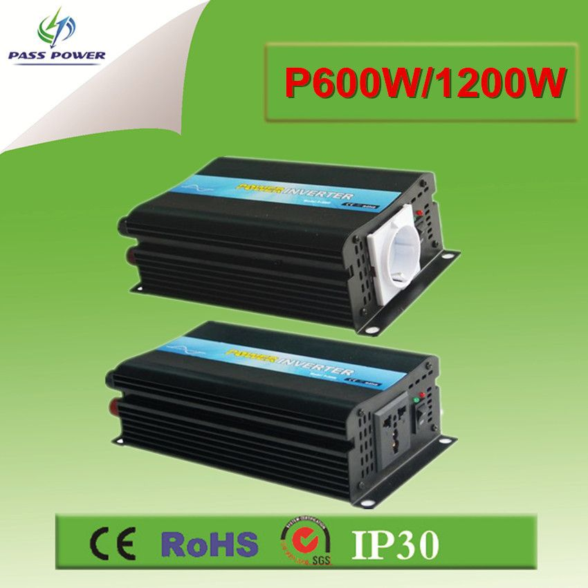 $120.00 (Buy here: http://appdeal.ru/equb ) CE&RoHS Approved, Off Grid Solar Inverter Pure Sine Wave Inverter 600w 12v to 220v for just $120.00