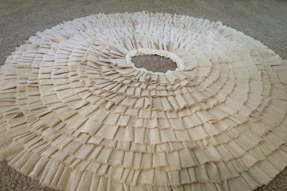 Handmade Ruffled XL Tree Skirt by Takeit4Granite on Etsy, $129.00