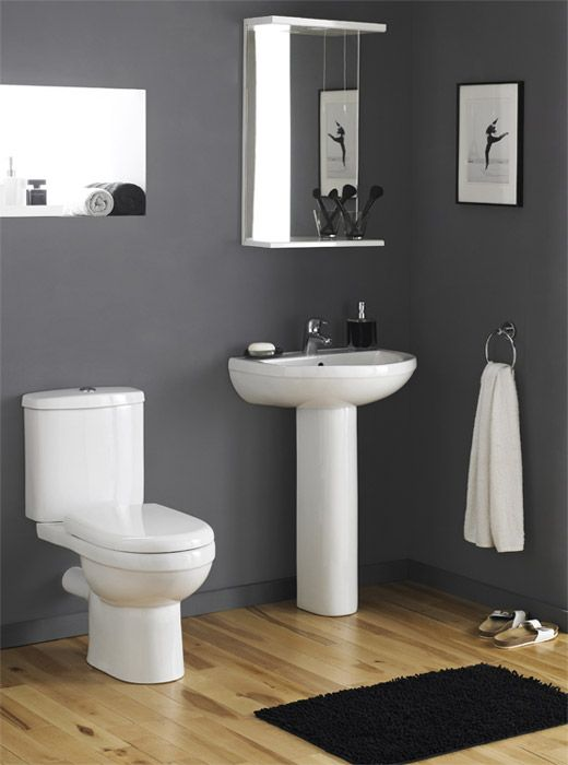 Nuie Ivo Ceramic 4 Piece Bathroom Suite 1 Or 2 Tap Holes At Victorian Plumbing Uk Bathroom Suite Modern Toilet Bathroom Suites