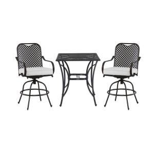 Hampton Bay Fall River 3 Piece Patio High Bistro Set With