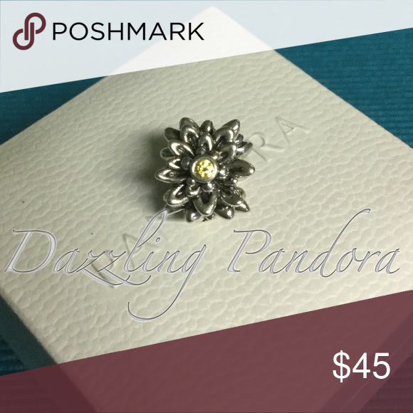 Pandora Edelweiss Yellow CZs Authentic and in Excellent condition. Hard box sold separately $3 Pandora Jewelry Bracelets