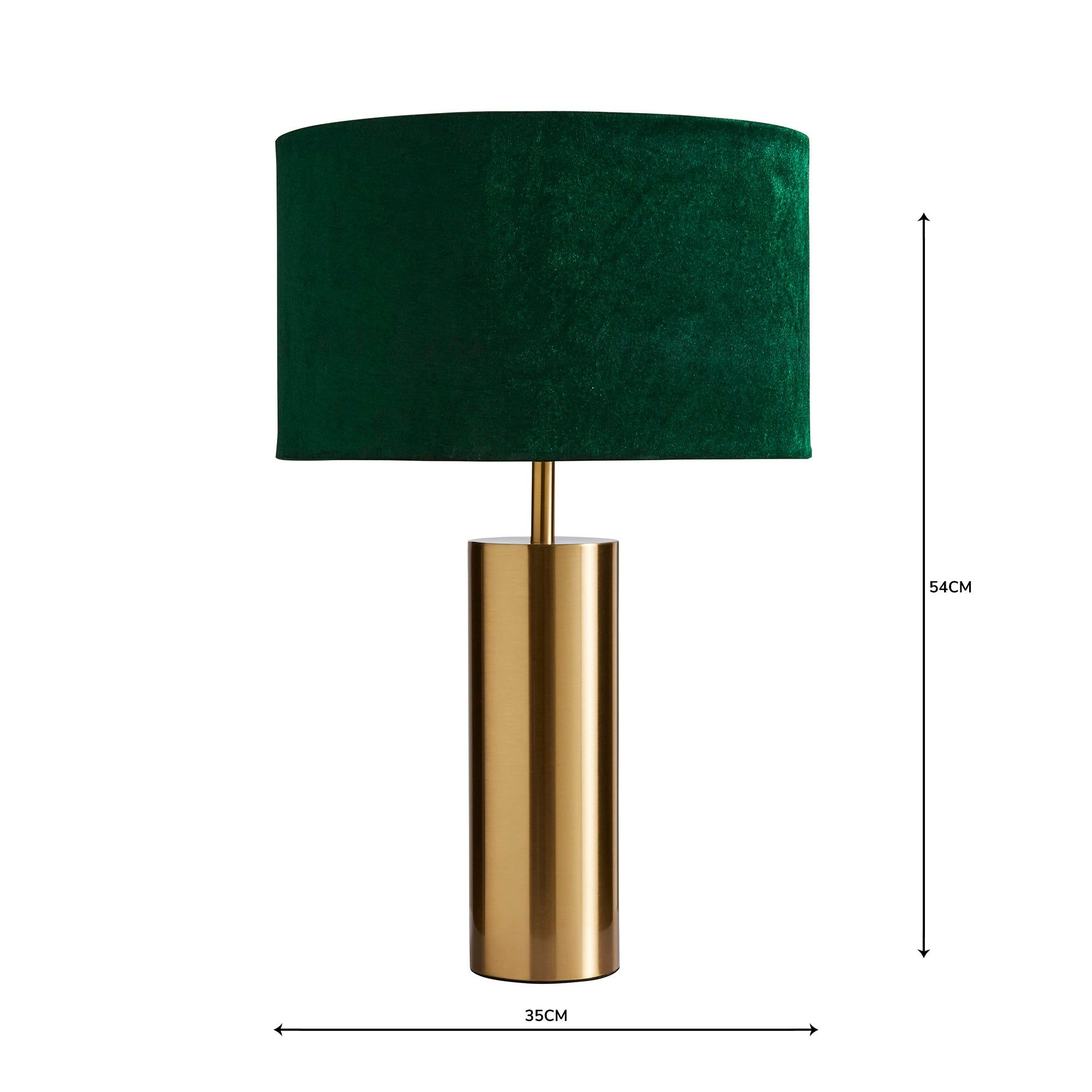 Nesa Velvet Touch Table Lamp Brushed Gold And Bottle Green In 2020 Touch Table Lamps Dimmable Table Lamp Table Lamp
