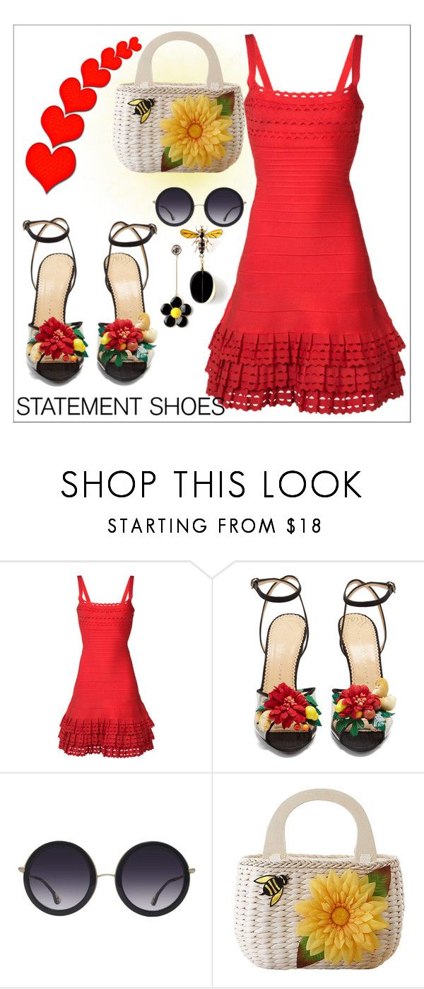 """""""Untitled #603"""" by chanlee-luv ❤ liked on Polyvore featuring Hervé Léger, Charlotte Olympia and Alice + Olivia"""