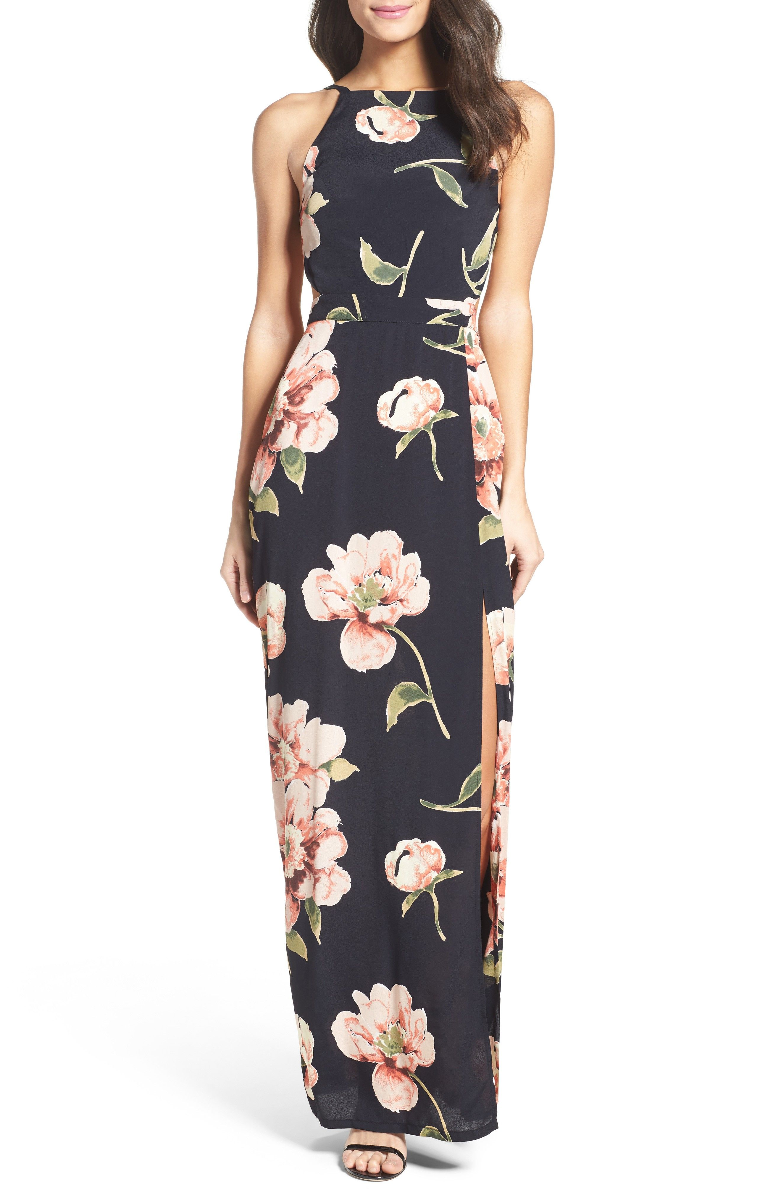 Dark Floral Maxi Dresses Dress For The Wedding Maxi Dress Womens Bridesmaid Dresses Pretty Maxi Dress [ 4048 x 2640 Pixel ]