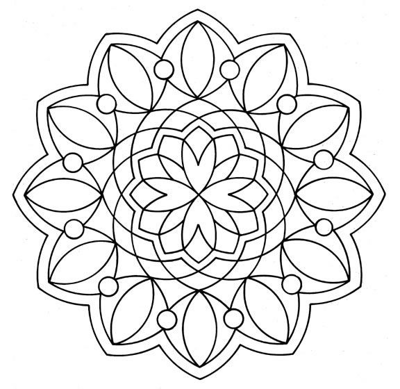 Mándalas para Colorear de Flores de Loto (11) | Ilustration ...