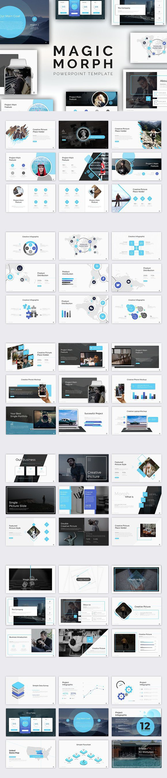 Magic Morph Powerpoint Template Powerpoint Templates  Powerpoint