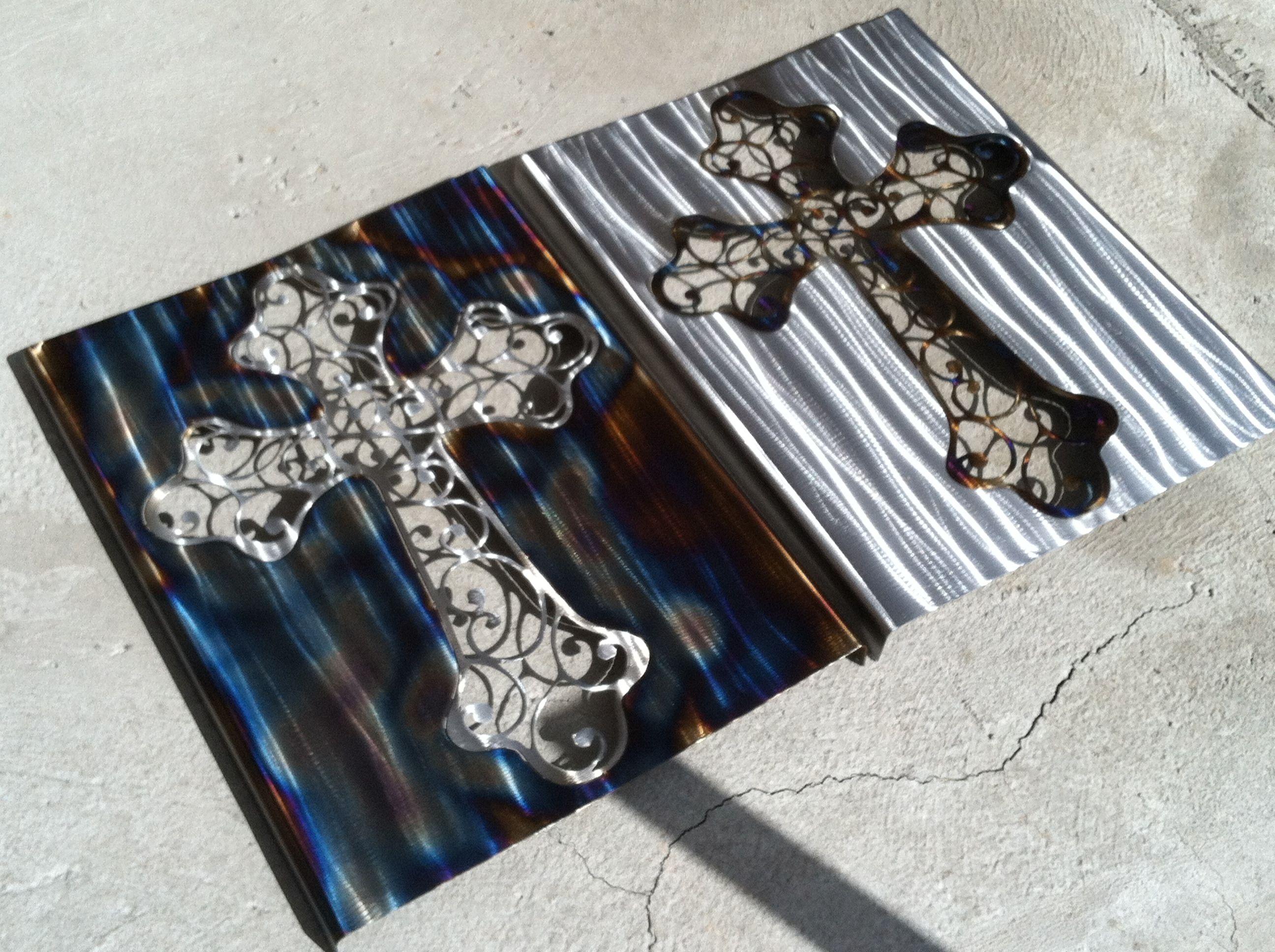 Metal Art by www.goingcustom.com Metal cross out of mild steel, 60 ...