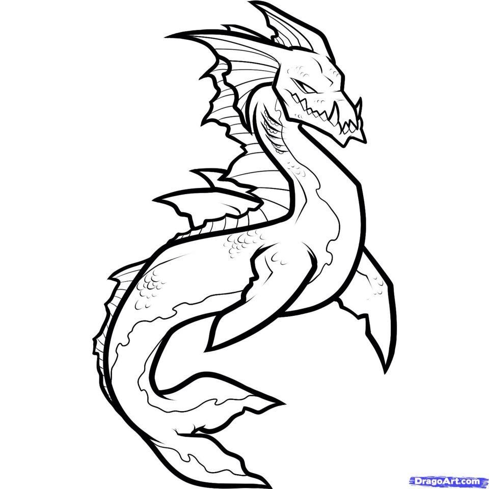 Cool dragon mermaid | Sea creatures drawing, Creature ...
