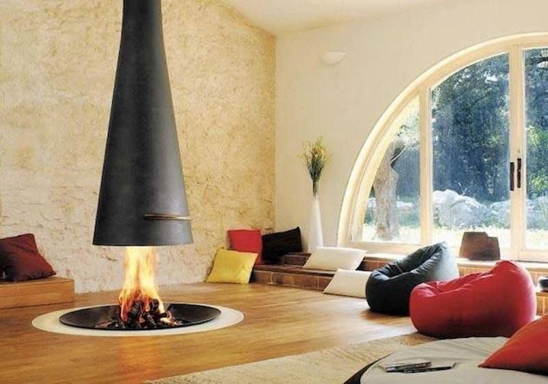 Image result for indoor open fire pit | Indoor fire | Pinterest