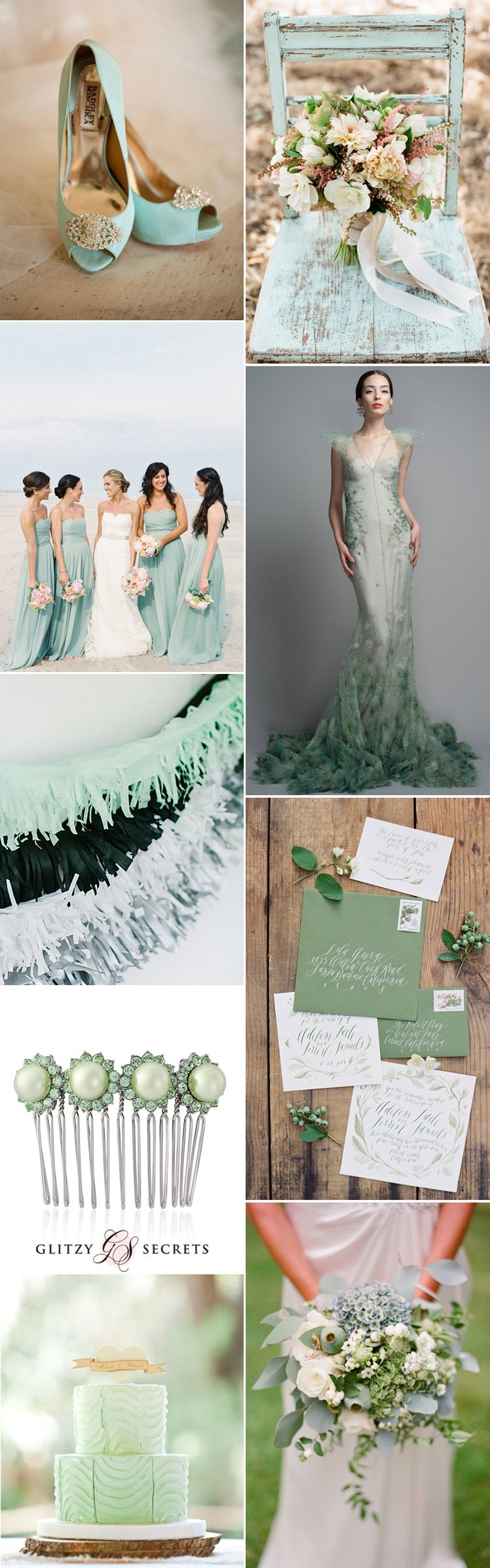 Stunning Seafoam Green Wedding Inspiration