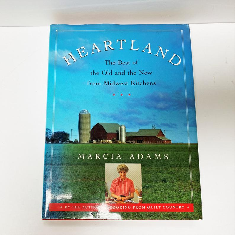 Vintage Hardcover Cookbook Heartland The Best Of The Old And Etsy Old Things Vintage Cookbooks Hardcover