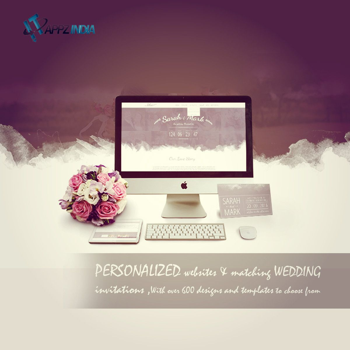 personalized websites matching wedding invitations with over 600