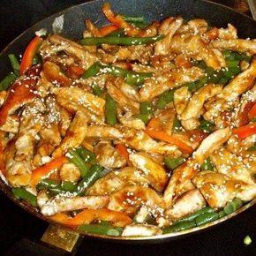 Теплый салат с курицей и стручковой фасолью | Рецепт | Еда ...