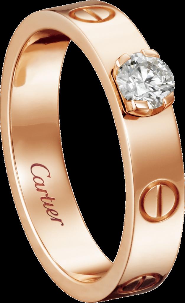 Love Solitairepink Gold Diamond Stylish Engagement Rings Diamond Wedding Jewelry Popular Engagement Rings