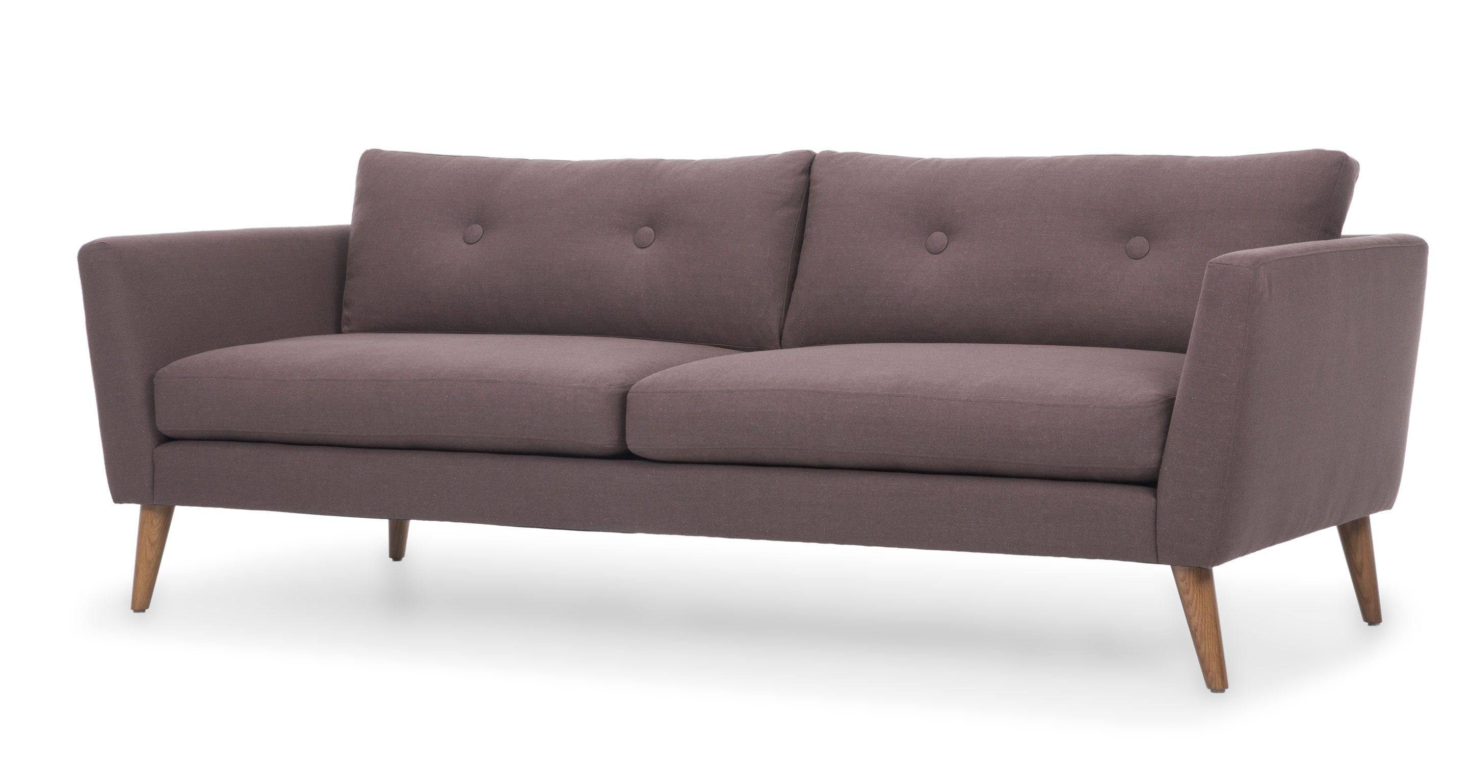 Best Emil Dusty Brown Sofa Sofas Ottomans Bryght Modern 400 x 300