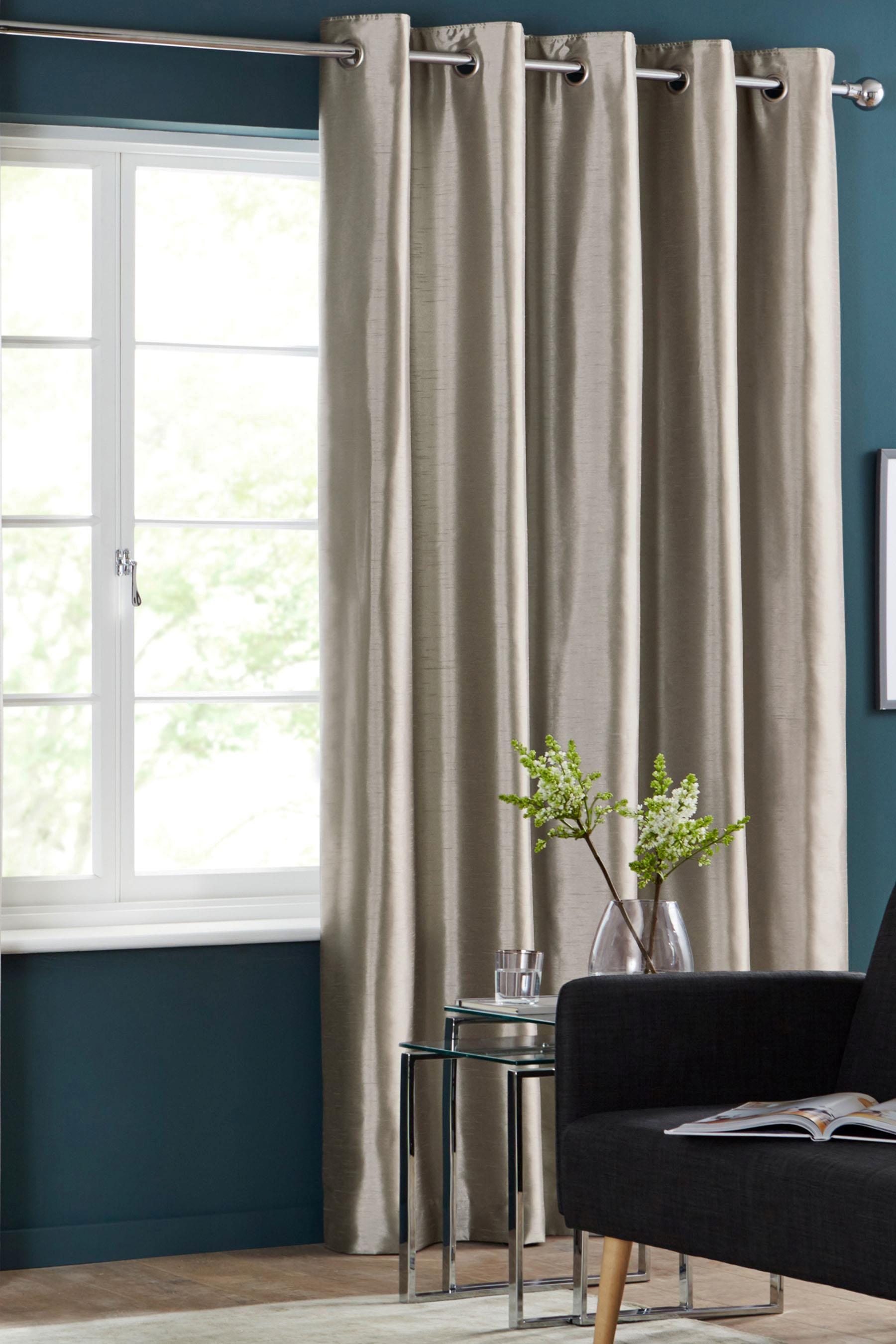 8edabea0ef Buy Faux Silk Blackout Eyelet Curtains from the Next UK online shop ...