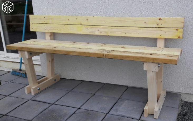Banc en bois (neuf fait maison ) banc fait maison Pinterest - tour a bois fait maison
