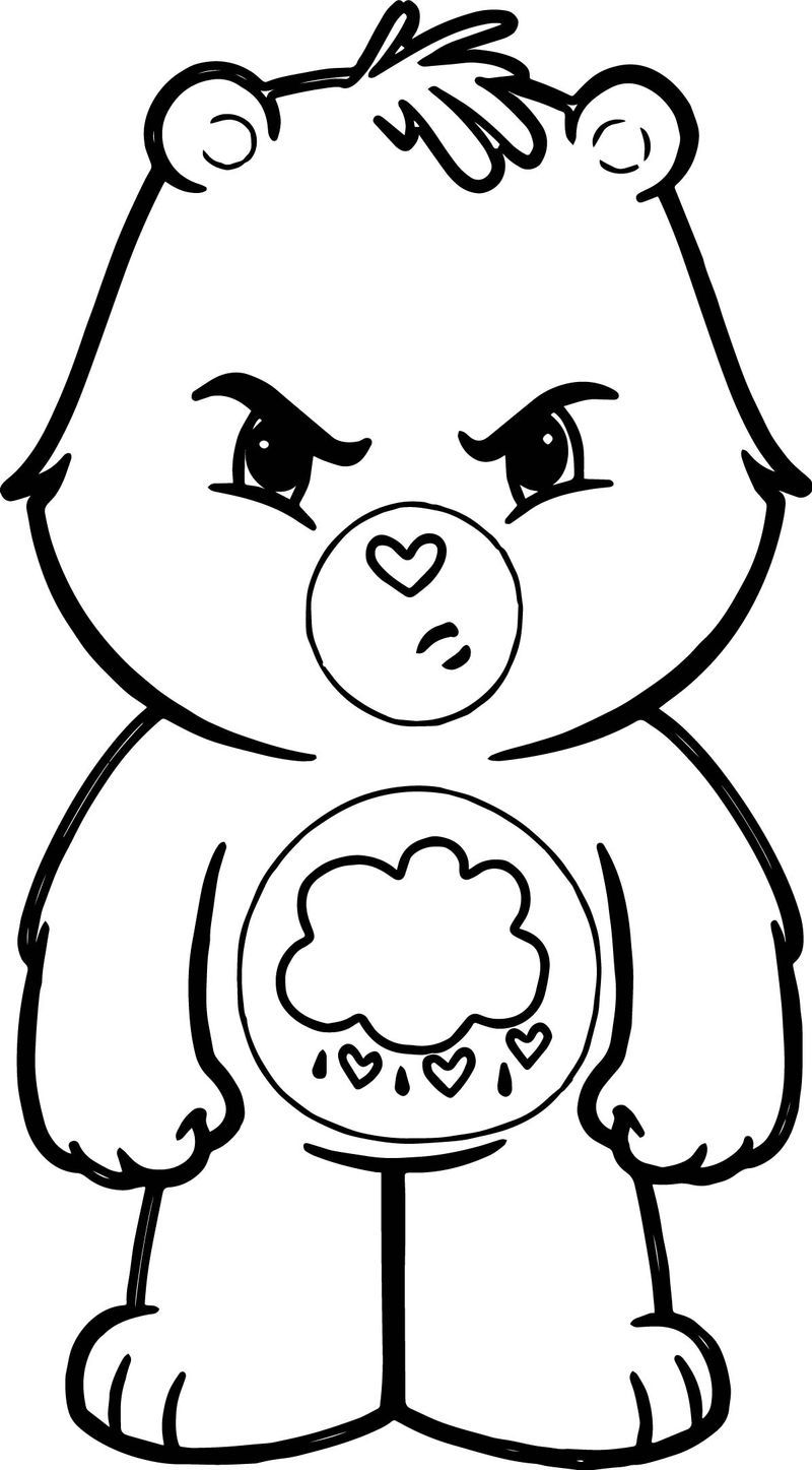Angry Cloud Bear Coloring Page Bear Coloring Pages Snowman Coloring Pages Cartoon Coloring Pages